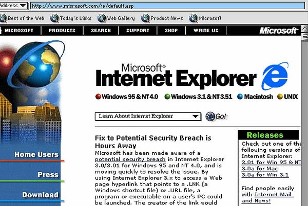Internet Explorer 5 Navigateur Web